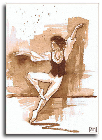 ballet dancer by Leonchi