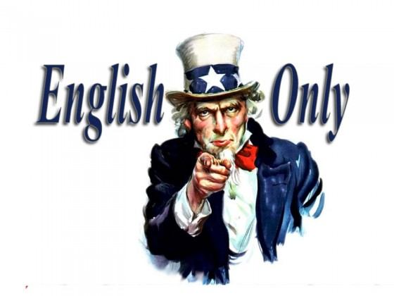 english only