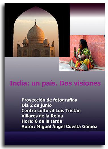 India: Un país, dos visiones, proyección fotográfica de Miguel Ángel Cuesta