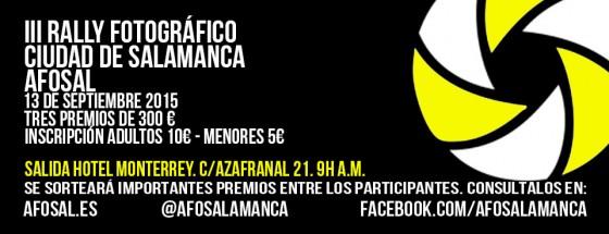 III Rally Fotográfico Ciudad de Salamanca AFOSAL
