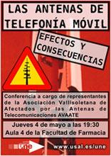 Charla sobre antenas de telefonía móvil organizada por UNE