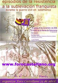cartel de la asociación salmantina