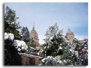 primera nevada del 2006 en Salamanca